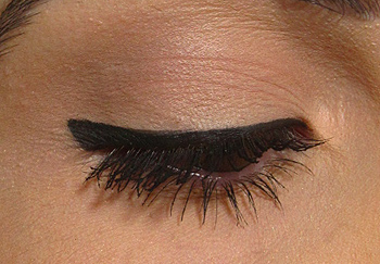 Illamasqua Mislead Eyeliner on eyes