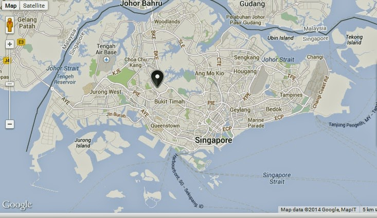 Bukit Timah Nature Reserve Singapore Location Map | Alexandra Meier