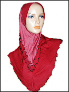 TUDUNG DENIM V-SHAPEDOUBLE CURLY