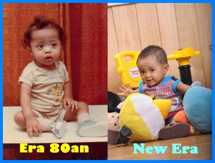 Perbandingan foto masa kecil Papa Ihwan dan Aiman
