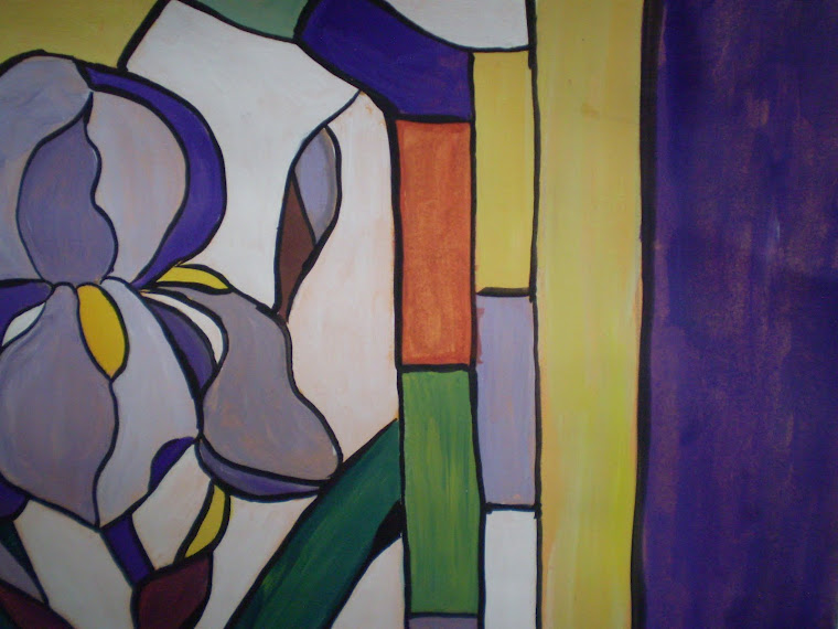 purple iris, detail1