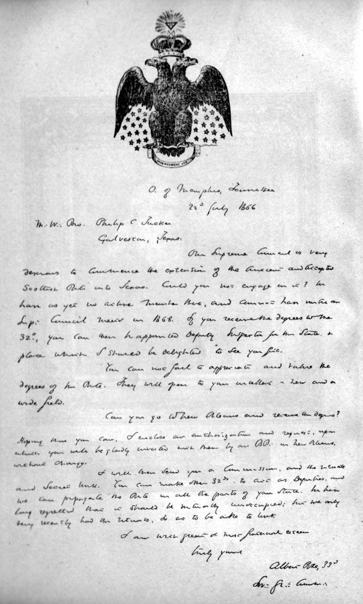 Albert Pike Letter   handybyte