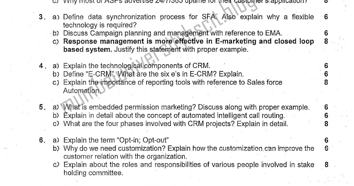 crm question paper Welcome to the sap customer relationship management  i'm not sure if this is the right place to add a question how can i set up an api to access the data in my crm.