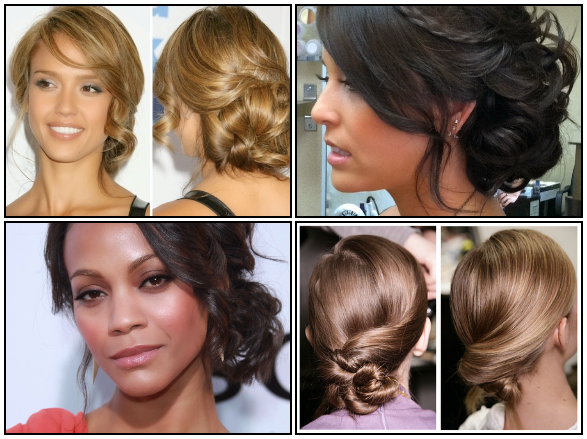side bun updo hairstyles