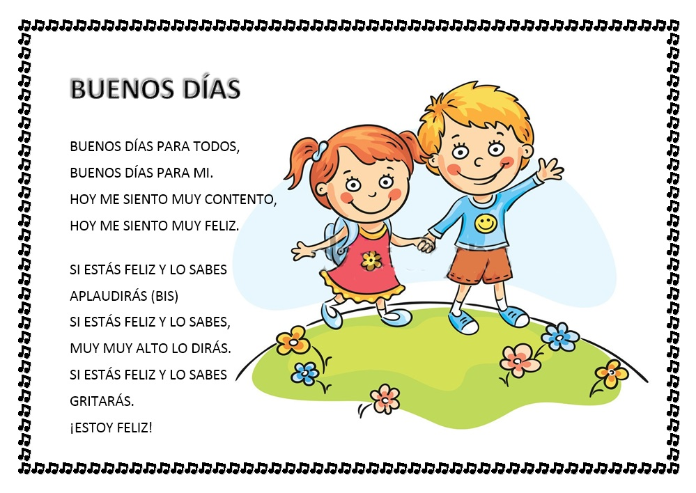 Cantores infantiles canci n para los buenos d as for Cancion infantil hola jardin