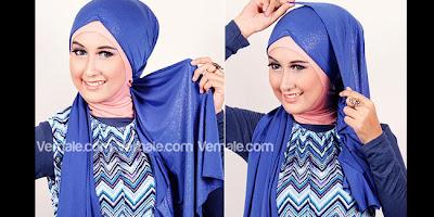Cara Memakai Jilbab Hijab Pashmina Modern Simple Terbaru Kreasi Turban Metalik Untuk Pesta