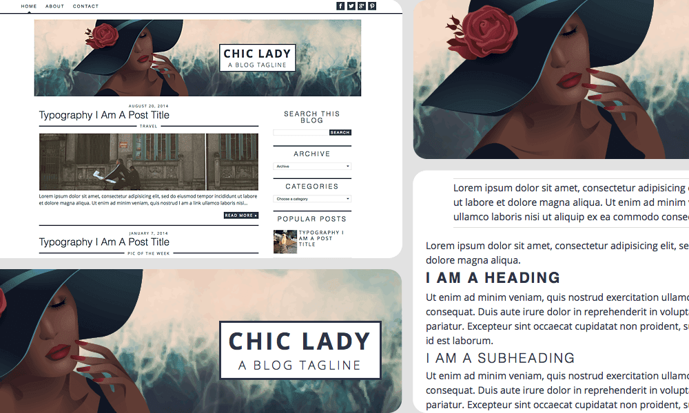 Chic Sassy Designs: chic lady, blogger premade template