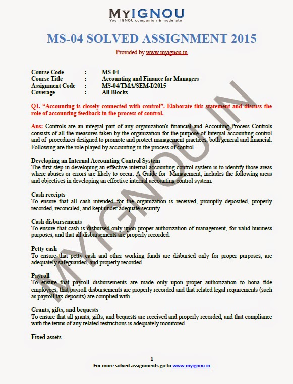 ms5 ignou assignment Ignou mba ms-05 assignments - old sample answers q write a short note on job design answer job design involves deciding on the content of jobs, that is, the responsibilities, duties or tasks that should be grouped together in a single job this means analysing the overall task which the team exists to achieve in order to establish the activities that need to be carried.