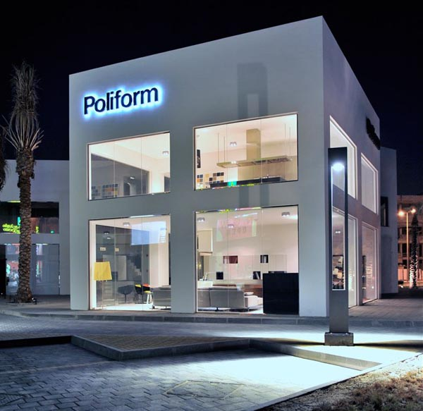 Contemporary Architecture Poliform New Flagship Store In Bahrain Interior Home Design