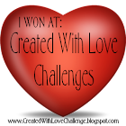Winner at created with love challenges