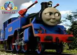 Thomas and friends character Belle the tank engine red fire truck train lives the Sodor fire station