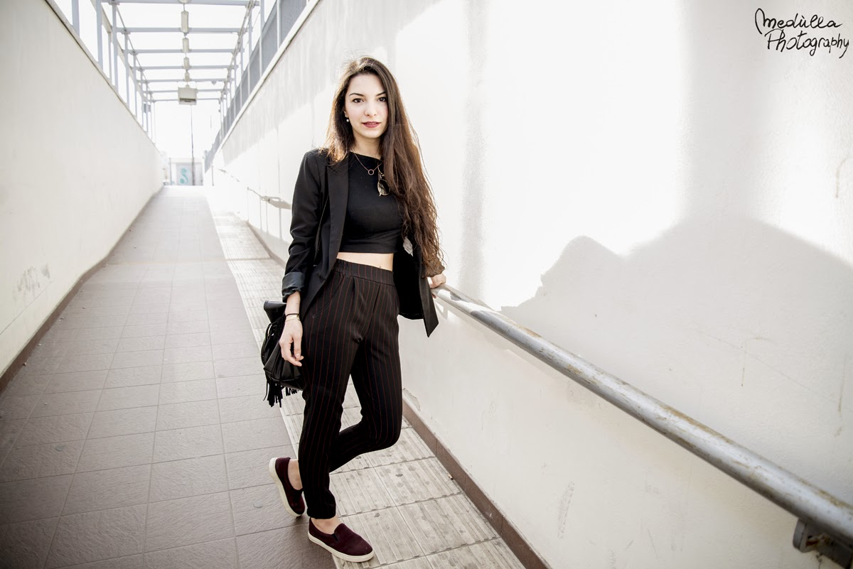 street style 2015, fashion 2015, spring 2015, fashion trends 2015, Francesca Navarro, the frugal mix, total black, Bershka