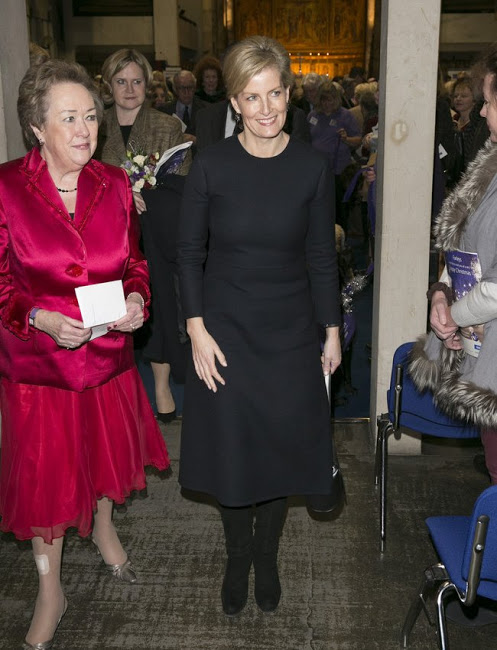 Sophie, Countess Of Wessex Attended Canine Partners Carol Service