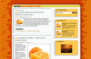 Orange Shadow Blogger Template