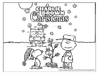 Christmas coloring sheets - Charlie Brown
