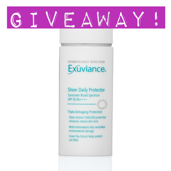 Exuviance Daily Protector SPF 50 Giveaway!