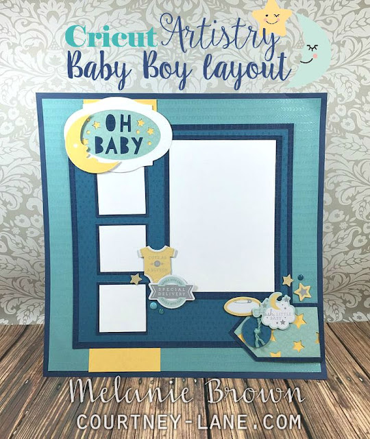Baby Boy Scrapbook layout