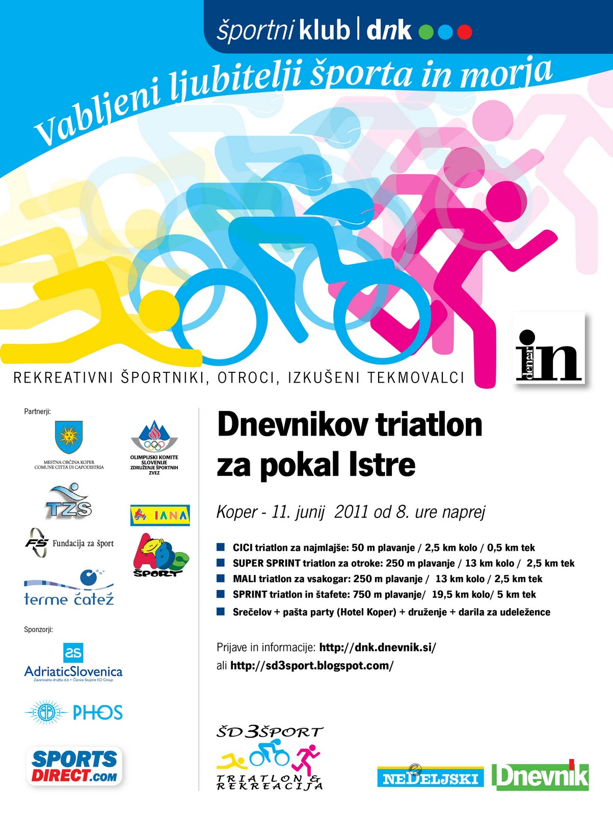 DNEVNIKOV TRIATLON ZA POKAL ISTRE  /  TRIATHLON ISTRIA CUP 2011