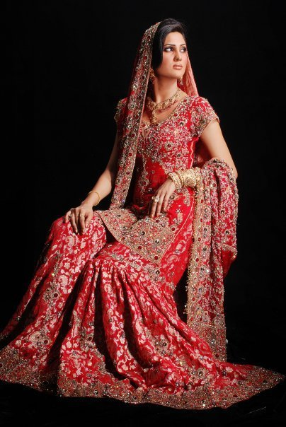 Red pakistani wedding dresses its all about fashion photo for All red wedding dresses