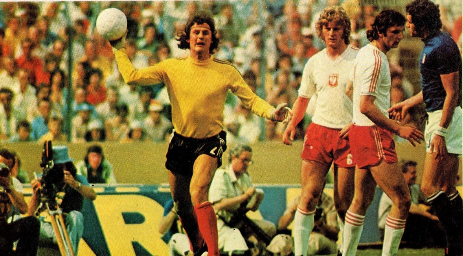 Ян Томашевский, голкипер сборной Польши, 1974