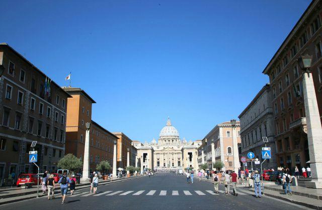 Blick auf den Vatikan  Besuch des Vatikans mit Kindern Rom