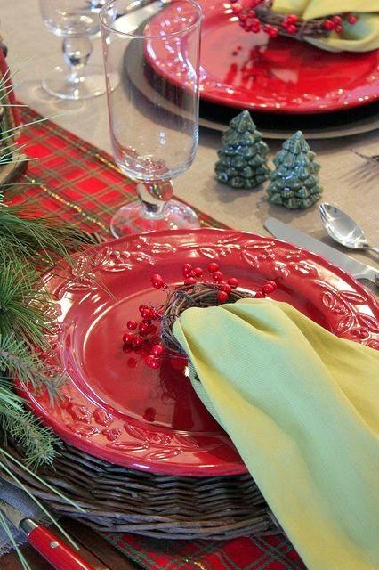 Noite de Natal - decoração de mesa de consoada