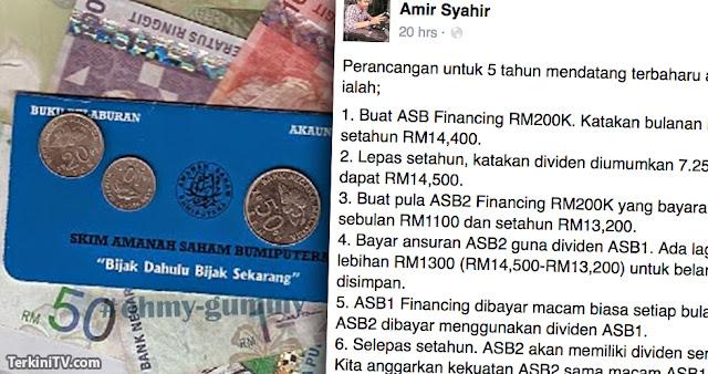 Lelaki ini kongsikan cara dapat RM100 Ribu hanya 5 tahun dengan ASB