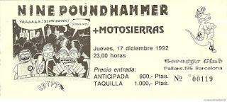 entrada de concierto de nine pound hammer
