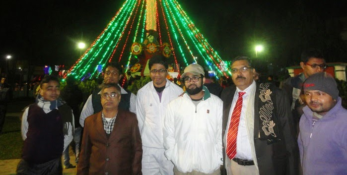Victory Day celebration with college staffs