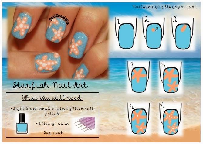 Naildeesignz Starfish Nails