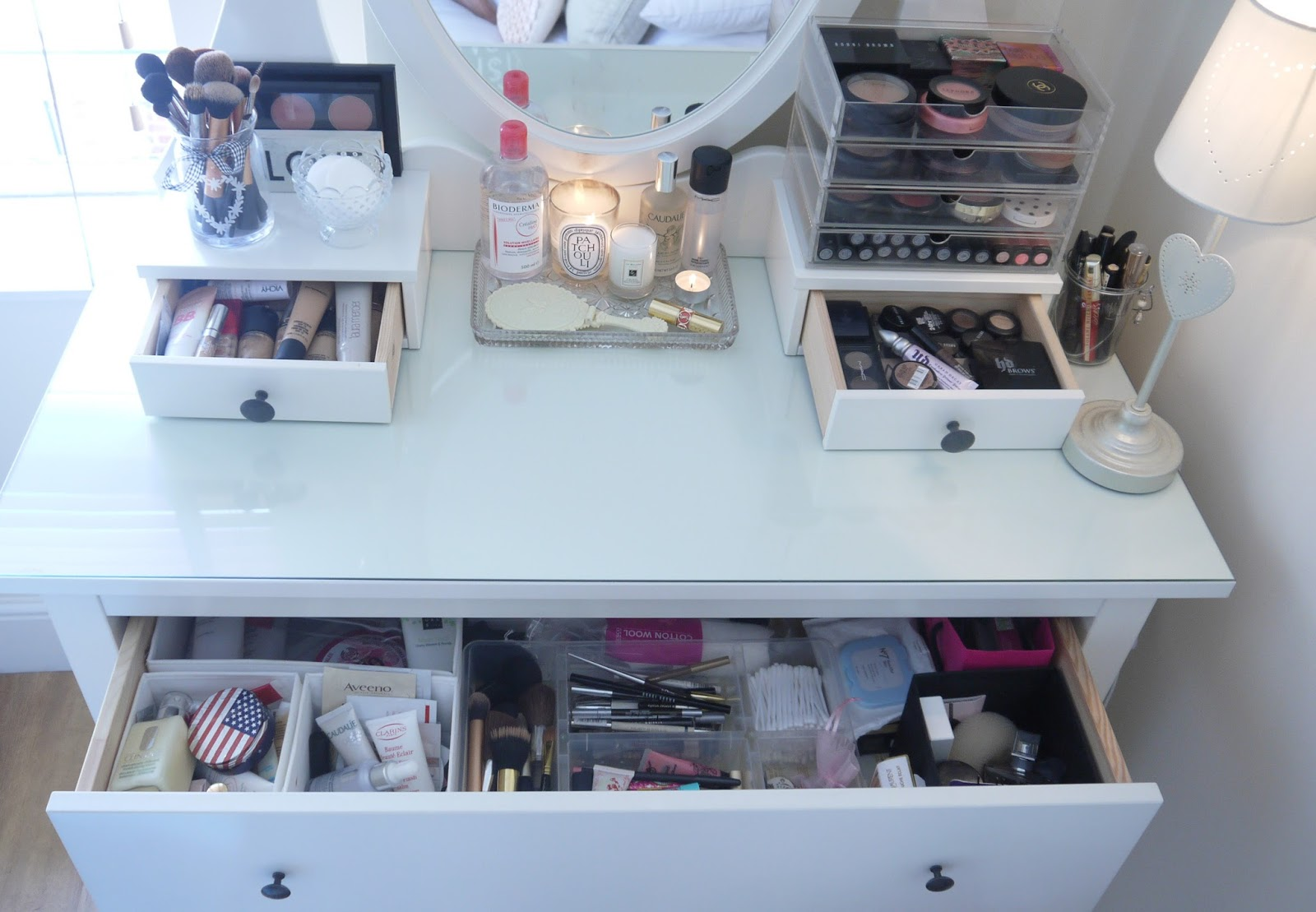The Make up Storage UPDATE & BEAUTY u0026 LE CHIC: The Make up Storage UPDATE