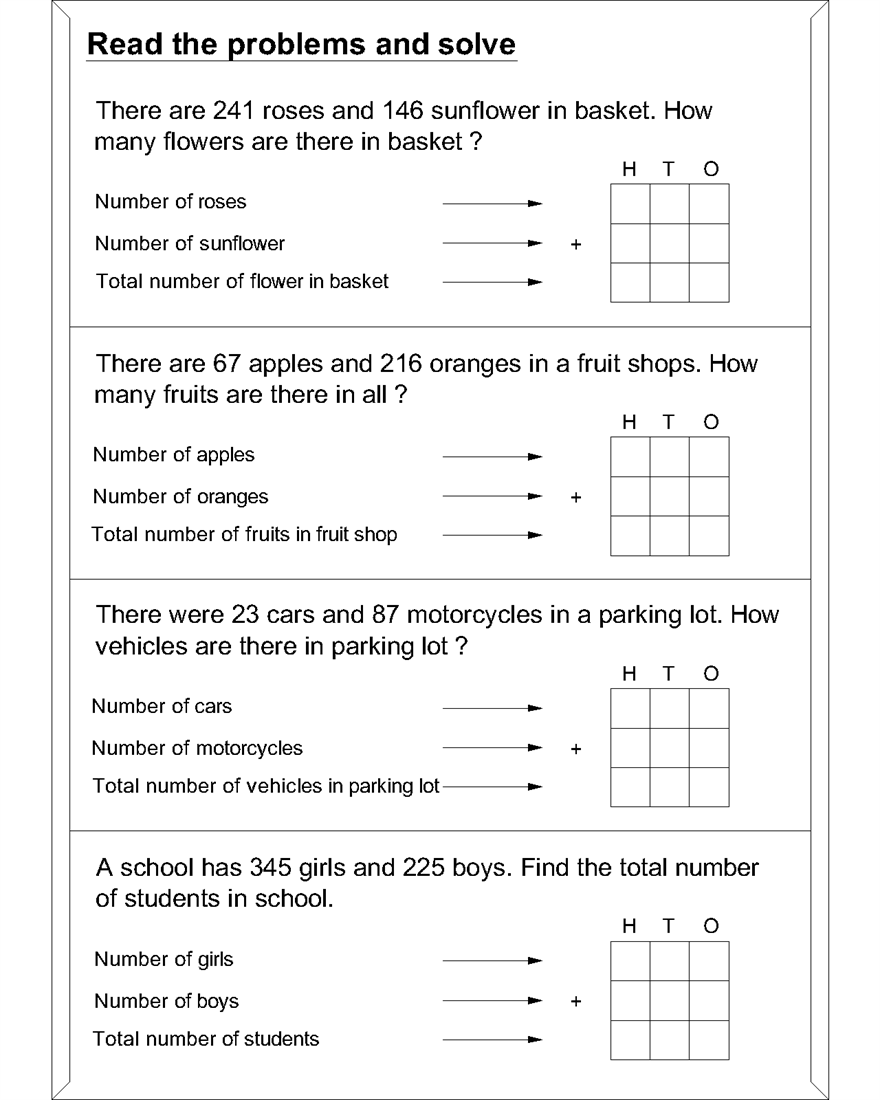 Primary school maths worksheets – Primary 4 Maths Worksheets