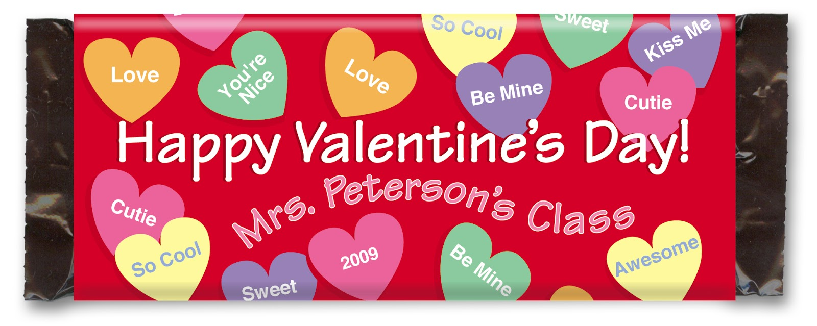 personalized chocolate bar wrapper for valentines day - Personalized Valentine Candy