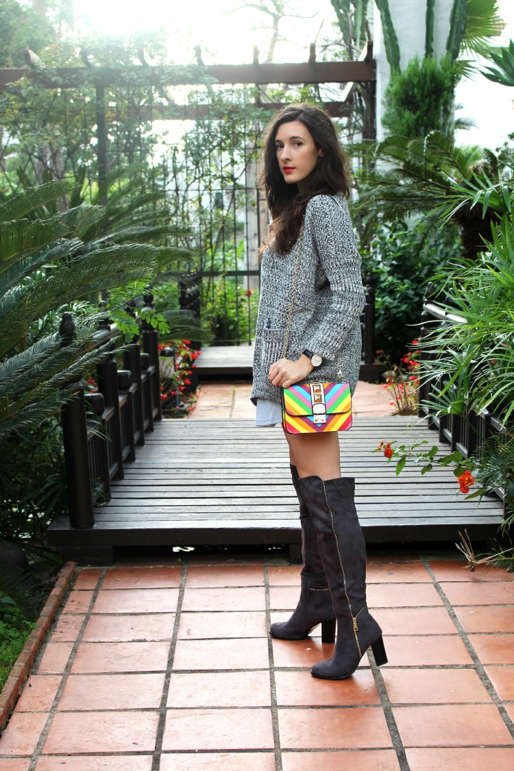 OOTD: Over the knee boots and ''Valentino'' bag