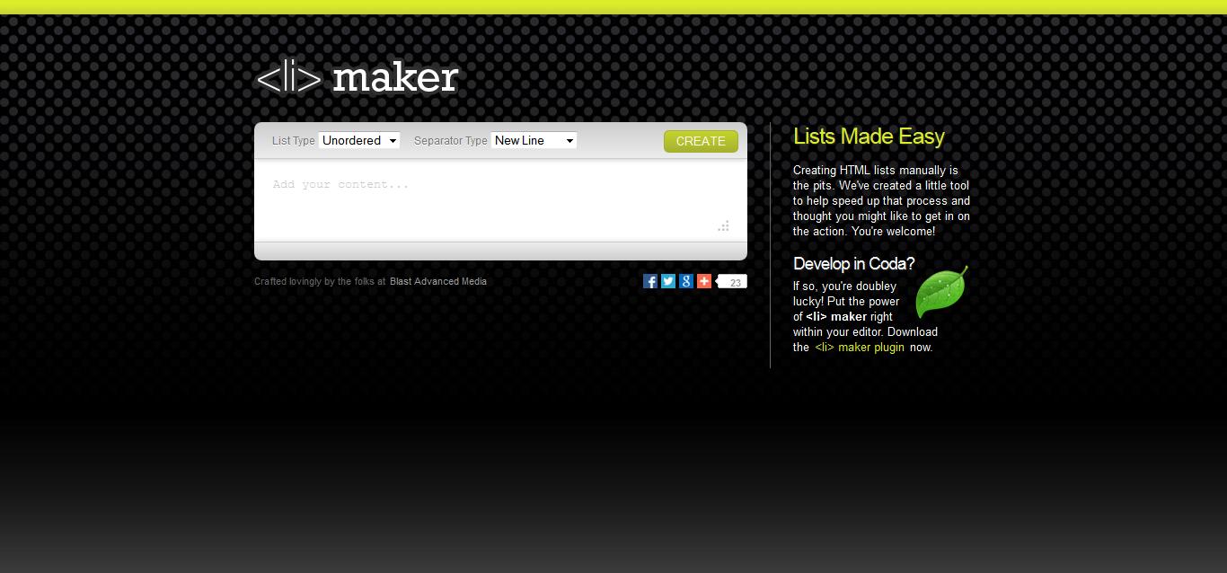 <li> maker