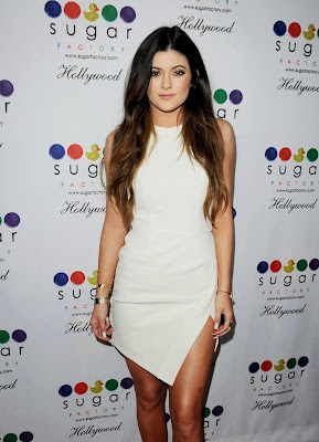 Kylie Jenner sexy leggings at Sugar Factory Hollywood Grand Opening