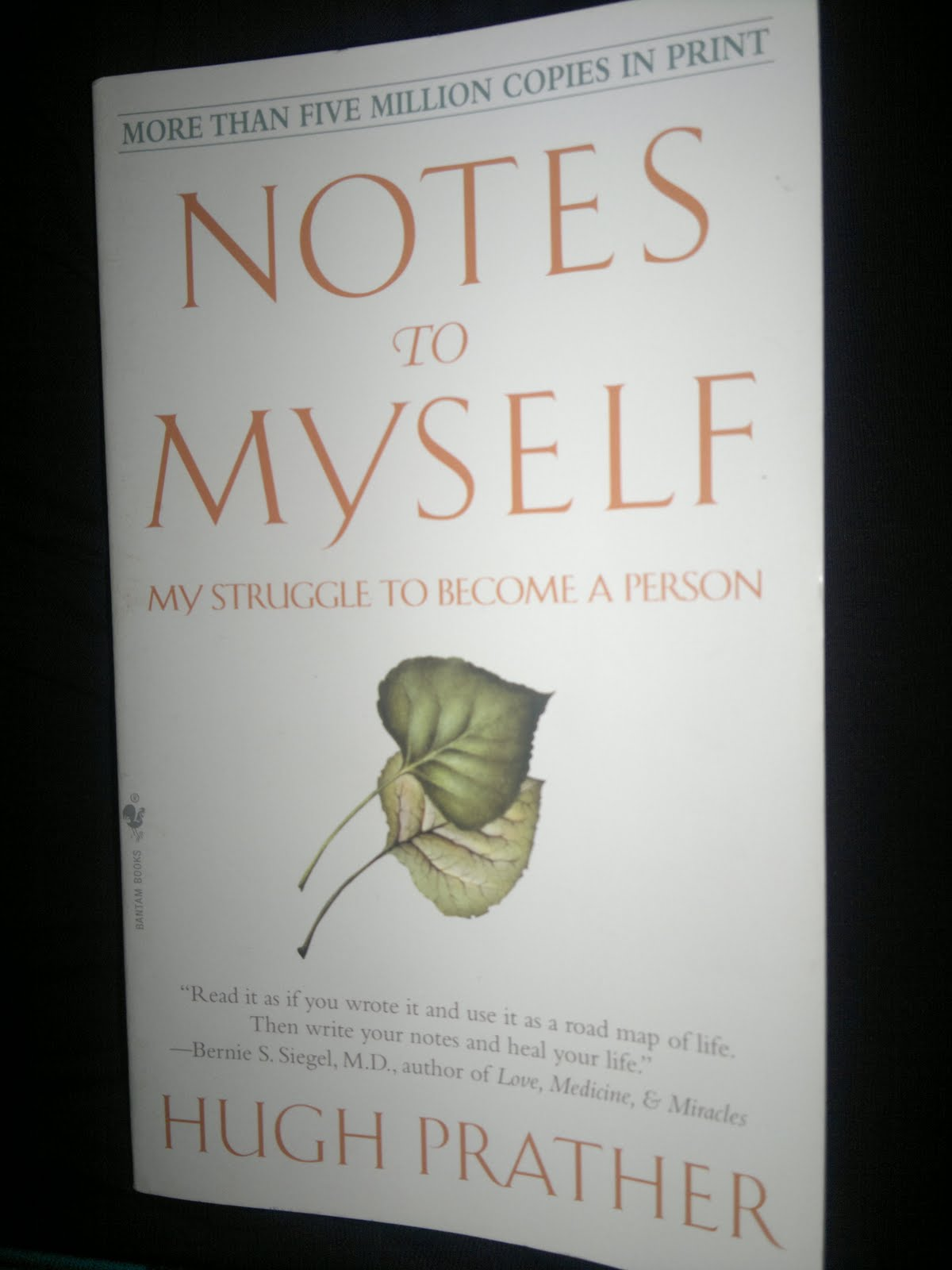 an analysis of the novel notes to myself by hugh prather Notes to myself: my struggle to become a person epub ebook author: hugh prather other description on notes to myself: my struggle to become a person.