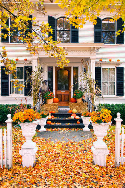 Antique Homes And Lifestyle Fall Porch Decorating Ideas