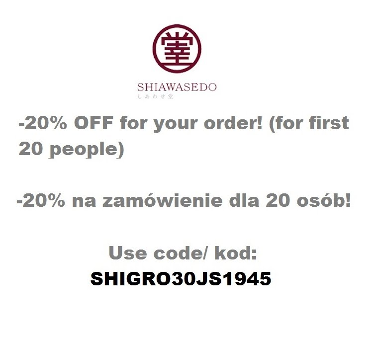-20% OFF for your order at shiawasedo.info! Use code: SHIGRO30JS1945