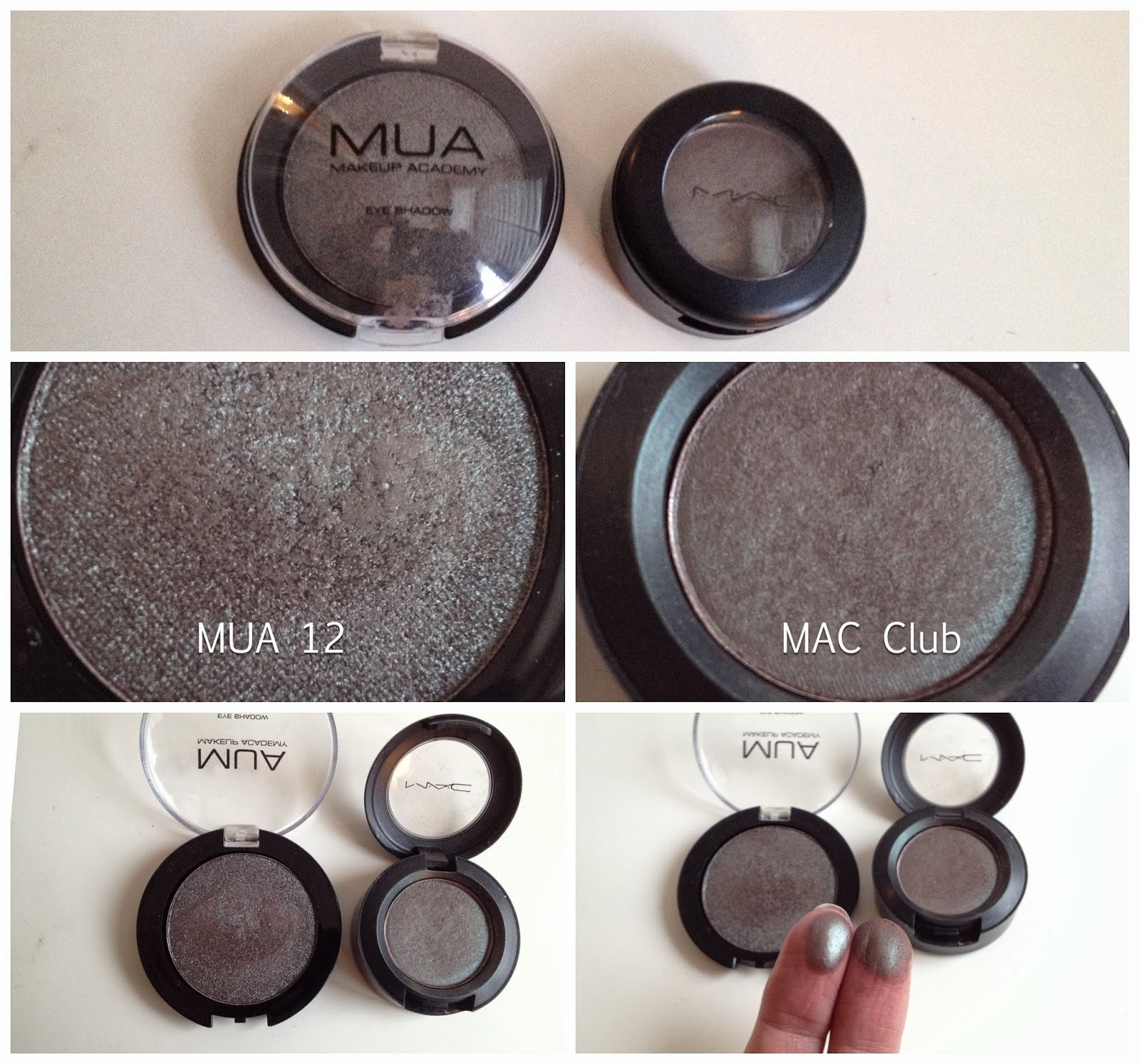 MUA Eyeshadow 12 is a dupe for MAC Club