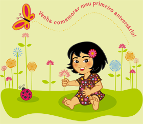 Ilustrao para comemorar o primeiro aniversrio da Alice. Cliente: Tatiana Amaral