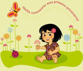 Ilustração para comemorar o primeiro aniversário da Alice. Cliente: Tatiana Amaral