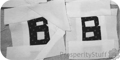 Crossword Quilt Letter Bs