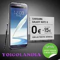 galaxy note 2 yoigo 15 euros al mes