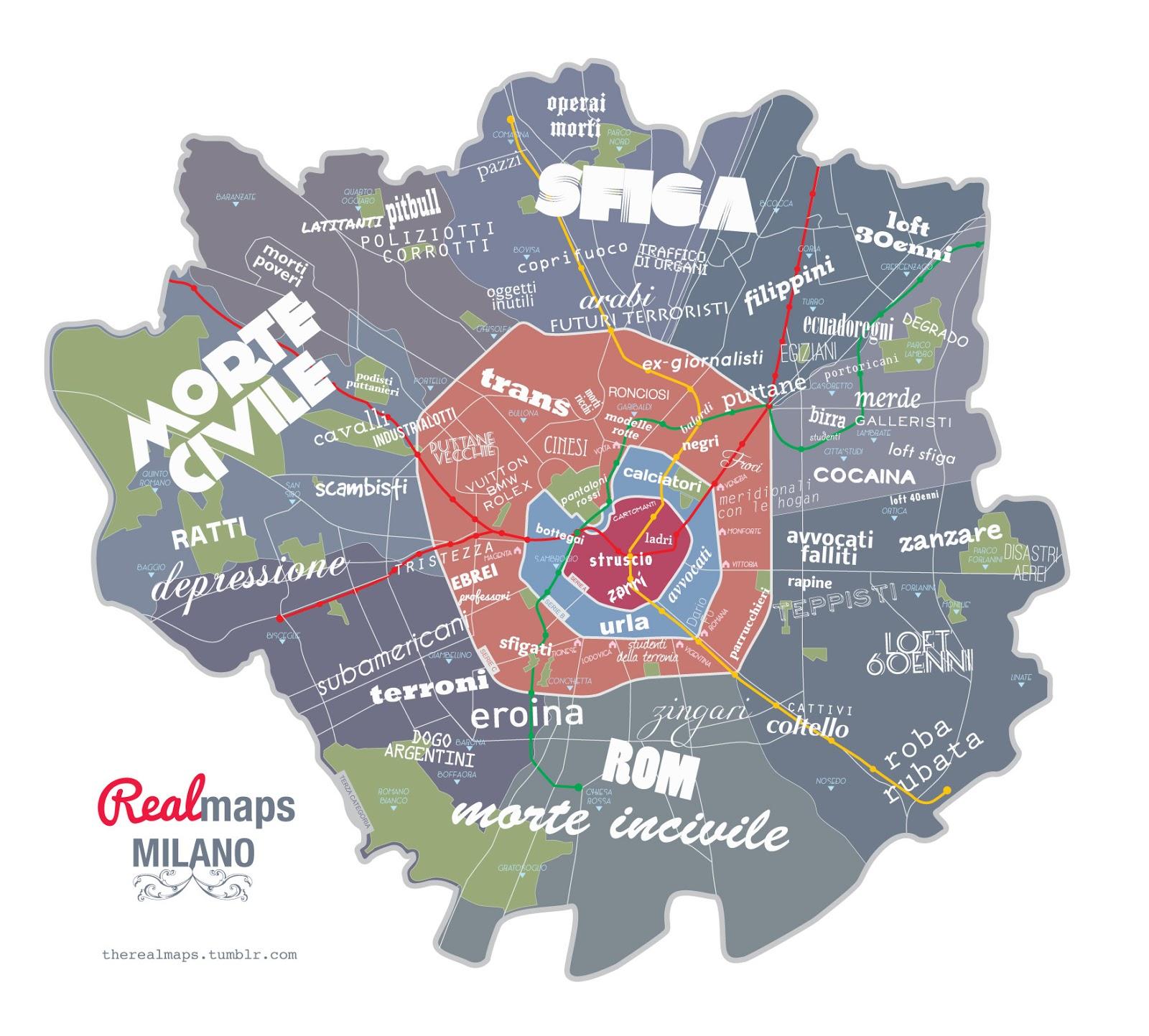 mappa di milano by ildeboscio