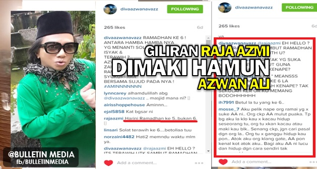 Giliran Raja Azmi Pula Dimaki Hamun Azwan Ali Kerana Menegurnya Di Instagram