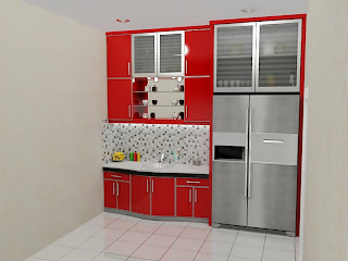 kitchen set, kitchen set murah, finishing hpl, kitchen set modern