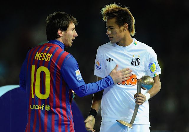 Lionel Messi Barcelona and Neymar Santos Wallpaper HD