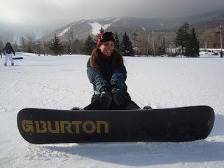 Mari Mancusi snowboarding