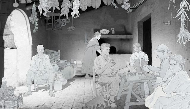escena familia tradicional ambito rural
